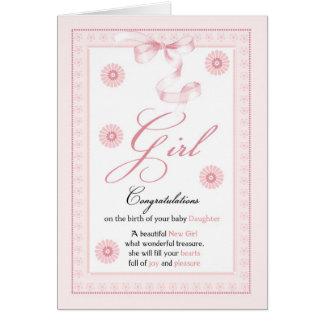 Baby Girl, Girl, Congratulations New Baby Card