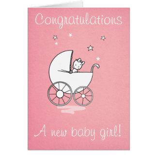 Baby girl - greeting card