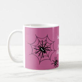 Baby Girl Halloween Baby Shower Spider Mugs