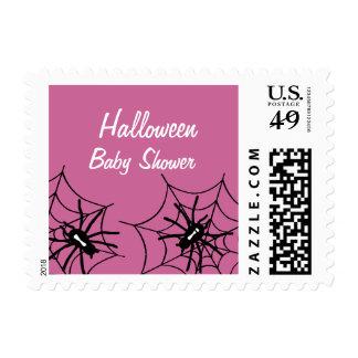 Baby Girl Halloween Baby Shower Spider Stamps