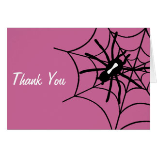Baby Girl Halloween Baby Shower Thank You Notes Cards