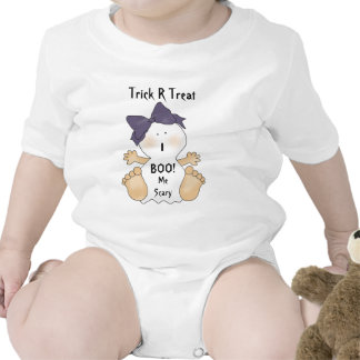 Baby Girl Halloween Ghost Theme T-Shirt