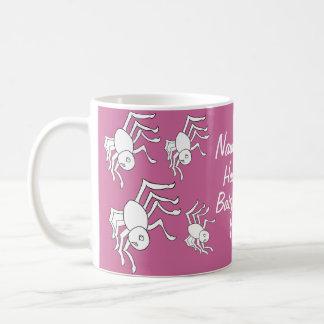 Baby Girl Halloween Spider Baby Shower Mugs