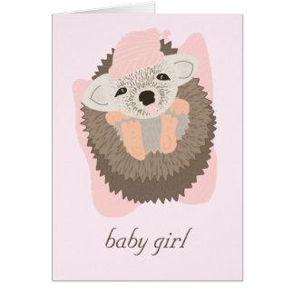 Baby Girl Hedgehog Card