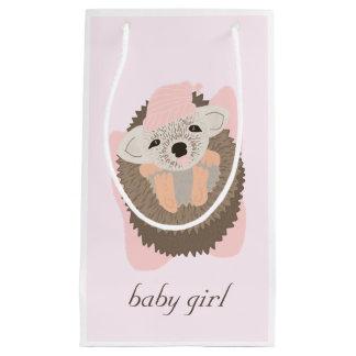 Baby Girl Hedgehogy Small Gift Bag