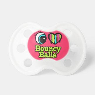 baby girl i love eye heart bouncy balls pacifier