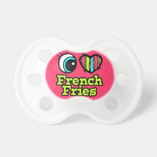 baby girl i love eye heart french fries pacifier