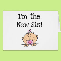 Baby Girl I'm the New Sis Card
