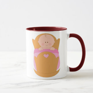 Baby Girl in Cradle Mug