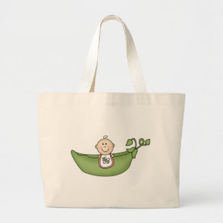 Baby Girl in Pea Pod Canvas Bag