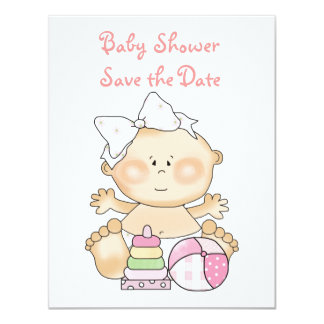 Baby Girl Invitations/Announcements Cards