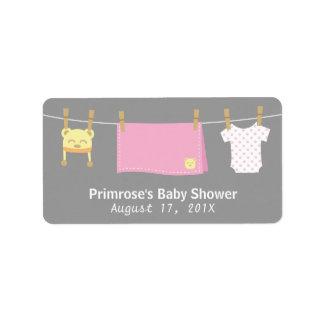 Baby Girl Items for Girl Baby Shower Address Label