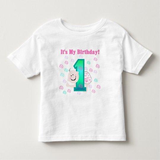 Baby Girl It's My 1st Birthday Toddler T-shirt