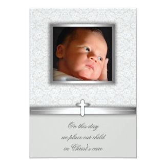 Baby Girl Lace Baptism or Christening Invitations