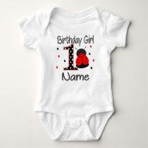 Baby Girl Ladybug 1st Birthday Bodysuit - Personal