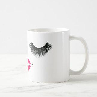baby girl lashes coffee mug