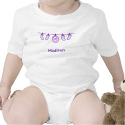 Baby Girl Laundry It's A Girl! Personalized Shirts