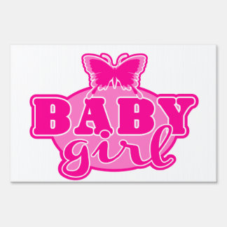 Baby Girl Lawn Sign