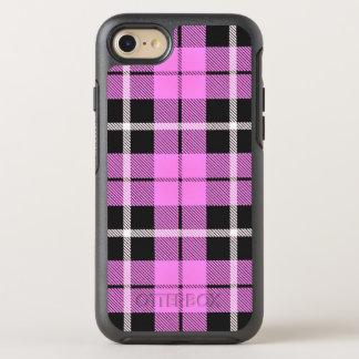 Baby girl light pink white/black stripe OtterBox symmetry iPhone 8/7 case
