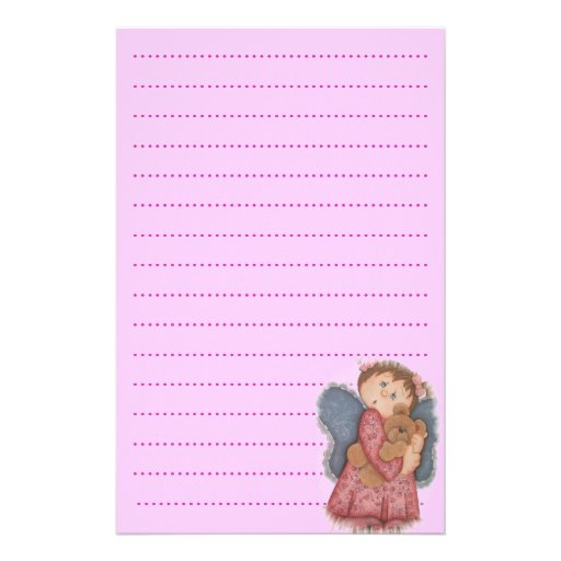 baby girl list planner personalized stationery