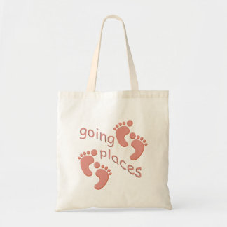 Baby Girl Little Feet Going Places Footprints Bag