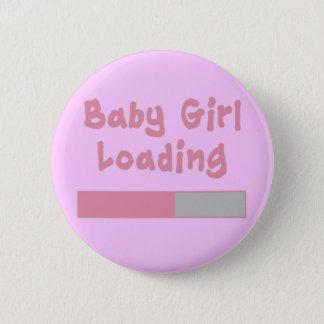 Baby Girl Loading Pinback Button