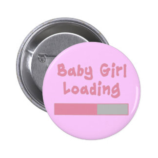 Baby Girl Loading Pinback Button