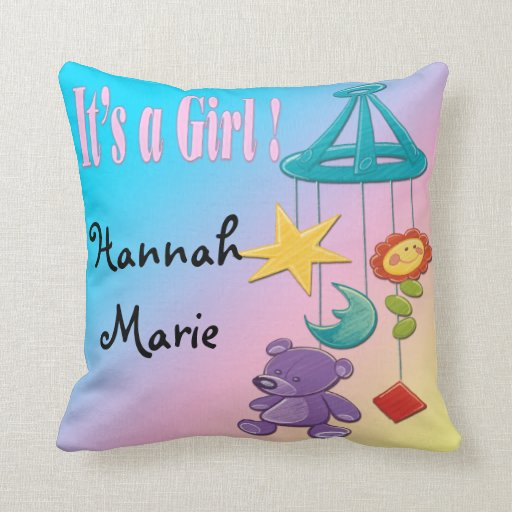 Baby Girl- Mobile Keepsake Pillow