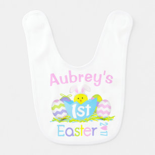 Personalized Easter Bib For Boys Personalized Name My 1st Easter Baby Bib Custom Baby Accessories Egg Train Toddler Bib