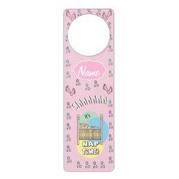 Baby Girl Nap Time Door Hanger