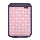 Baby girl nautical pattern sleeve for iPad mini