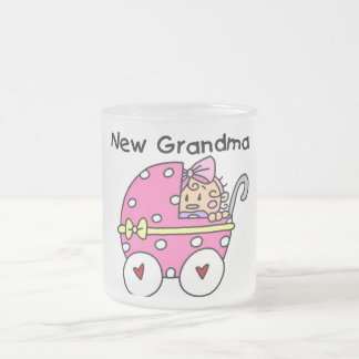 Baby Girl New Grandma T-shirts and Gifts 10 Oz Frosted Glass Coffee Mug