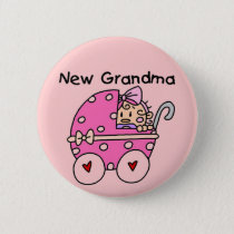 Baby Girl New Grandma T-shirts and Gifts Button