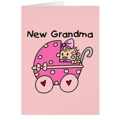 Baby Girl New Grandma T-shirts and Gifts Greeting Card ...