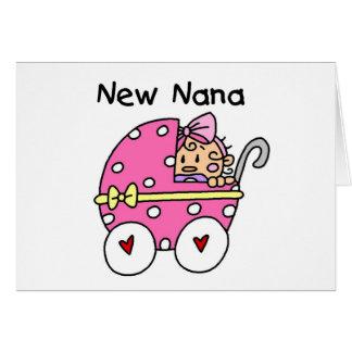 Baby Girl New Nana T-shirts and Gifts Greeting Card