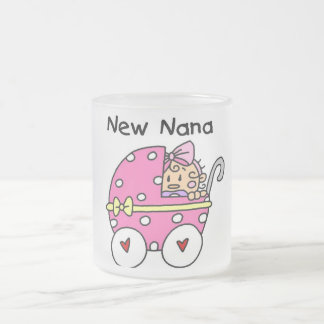 Baby Girl New Nana T-shirts and Gifts Frosted Glass Coffee Mug