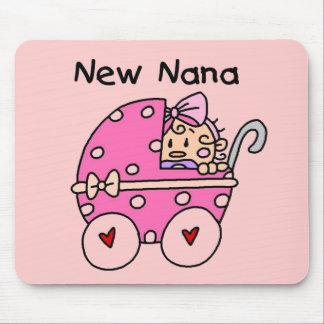Baby Girl New Nana T-shirts and Gifts Mouse Pad