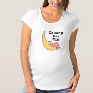 Baby Girl on Moon Fall Tshirts