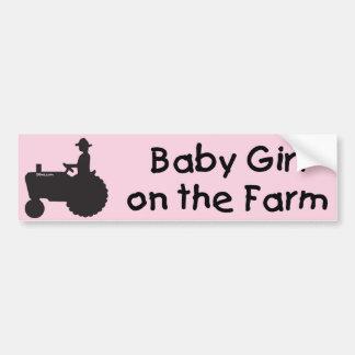 Baby Girl on the Farm Bumper Sticker