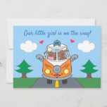 Baby Girl On The Way Buzby The Bus Baby Shower Invitation