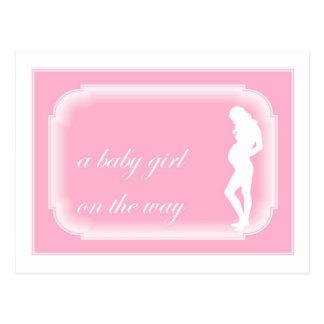 Baby Girl on the Way Postcard