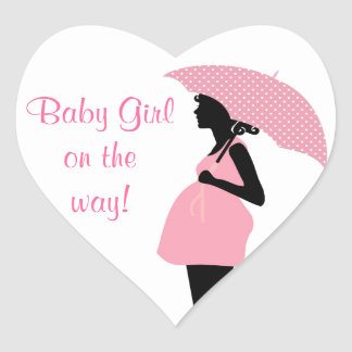 """""""Baby Girl On The Way"""" Stickers"""