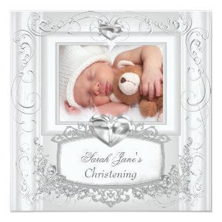 Baby Girl or Boy Christening Baptism Cross White Card