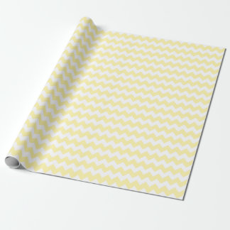 Baby Girl or Boy Yellow and White Zigzag Chevrons Wrapping Paper