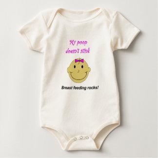 Baby girl organic cotton one-piece undershirt baby bodysuit