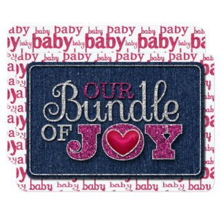 Baby Girl Our Bundle Of Joy JOURNAL CARD