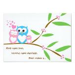 "Baby Girl Owl Baby Shower Invitation 5"" X 7"" Invitation Card"