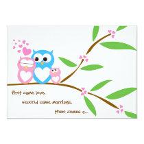 Baby Girl Owl Baby Shower Invitation