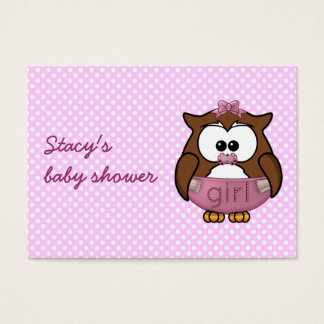baby girl owl business card