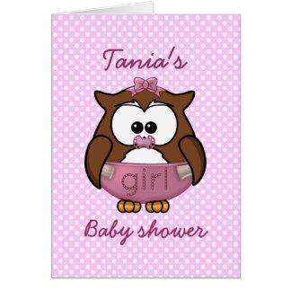 baby girl owl card